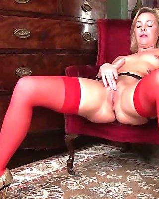 Lucy Lauren in Little Red Dress - Anilos