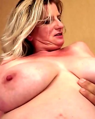 Young guy fucking busty granny pretty hard