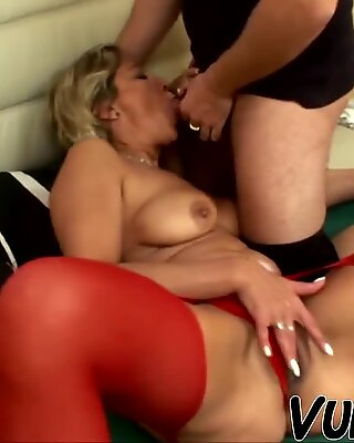 Hot sex with attractive old woman!