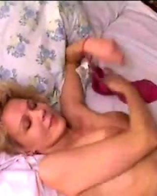 Mature Russian milf fucks a hot neighbor boy