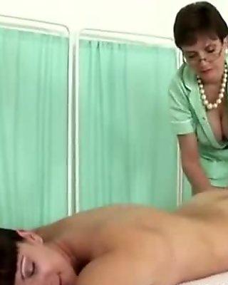 Mature classy nurse Lady Sonia