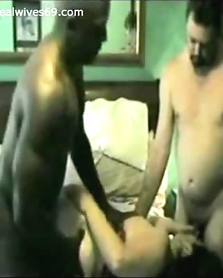 Cuck Hubby gets BJ while BBC fucks his Wife for good on Realwives69.com