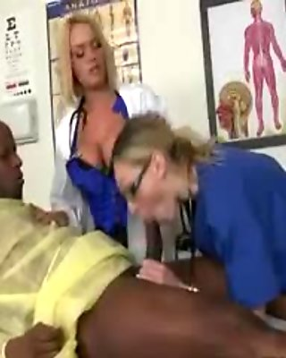 Three nurses get caught by a doctor