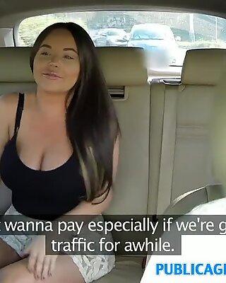 PublicAgent fat titties american fucks in public