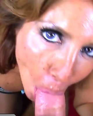Horny MILF is hungry for young cock