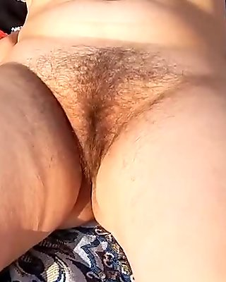 Hairy Mature in transparent dress (part 4)
