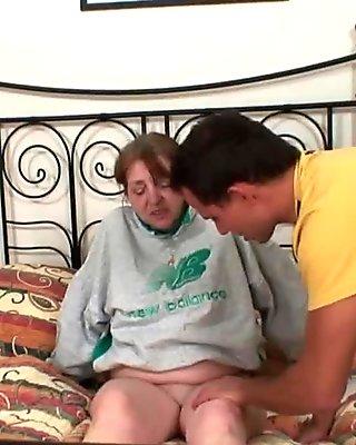 He doggy-fucks 70 years old grandma