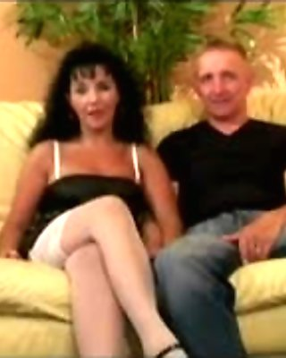 cristal & hubby on the couch