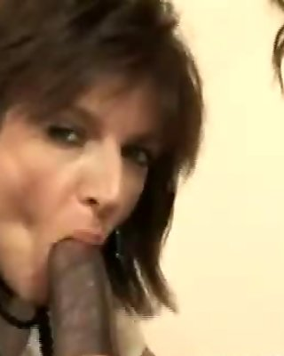 Mature ladies eat black cock
