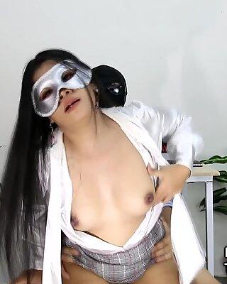 Thai Secretary Fuck Boss in Office Big Cock Cumshot
