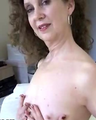Horny older mom showing