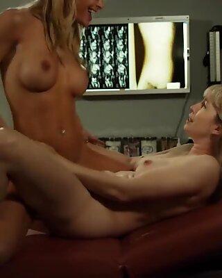Lesbian nurse scissoring with new inmate