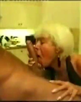 Mature Lady Sucks Cock