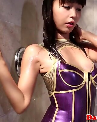 Petite asian submissive punished with BBC