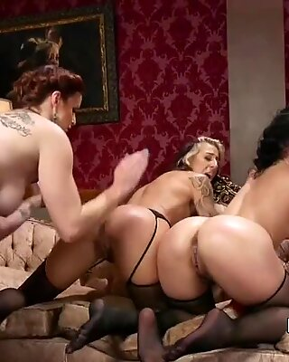 Natural busty mistress anal fists lesbians