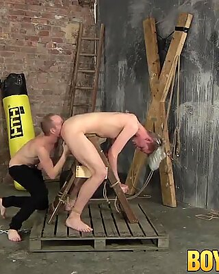 Sean Taylor and Darren Cross have BDSM sex in the dungeon