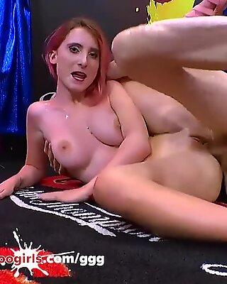 lia louise petite redhead do sloppy blowjobs and get cum germangoogirls