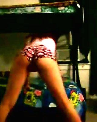 Slow Sexy College Coeds Dorm Room Striptease