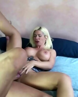 German Mature Double Blow Huge Cock and Fuck Him after Cum