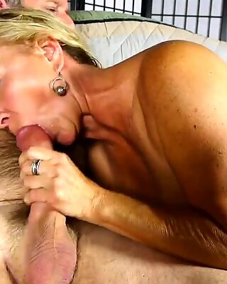 Cock hungry old spunker sucks & fucks for a facial cumshot