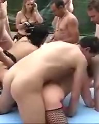 Orgy with mature females Part Two