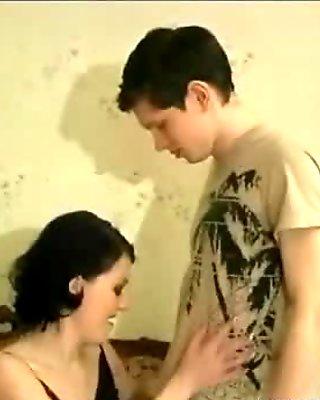 Nasty teen girl gets horny sucking film