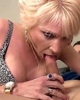 Mature Slut Sucks A Young Guy's Boner