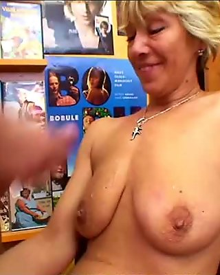 Grand Mother Anja hot pussy
