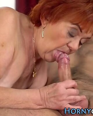 Ginger granny face jizzed