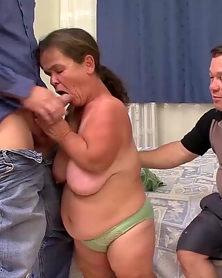 Tiny milfs first threesome orgy