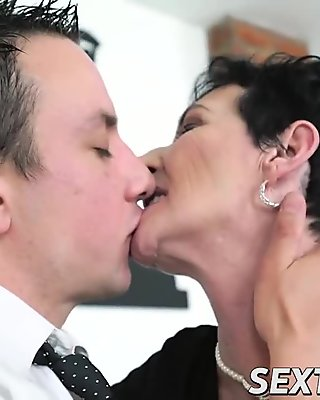 Fat granny gets picked up and drilled deeply
