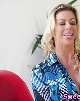 Teen lesbian rims butt and fingers