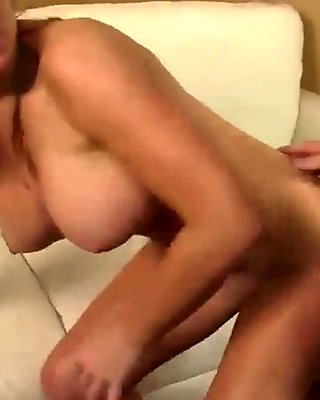 Blonde cougar doggy fucked