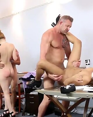 Two daddies swinger party