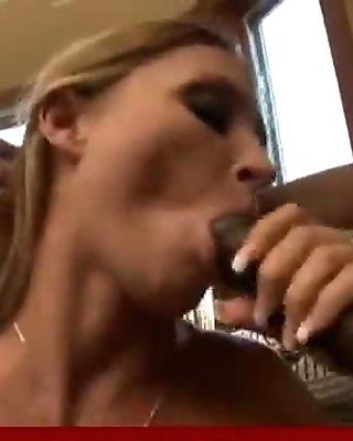 Milf get fucked by big black monster cock - Interracial porn 40