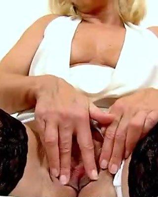Sexy stockings legs of alluring milf Koko and facesitting