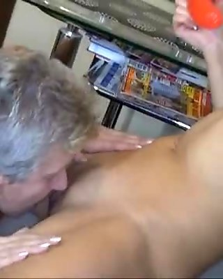 Nasty old woman goes crazy rubbing movie
