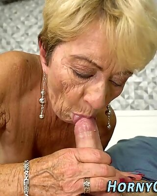 Old woman gets railed