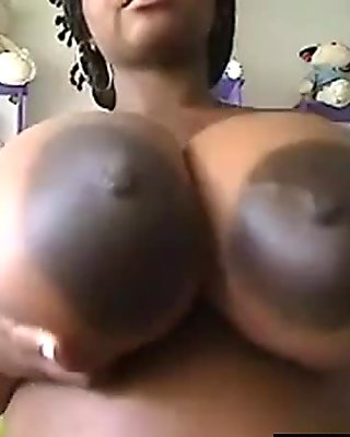 Horny woman playing with big black dildo