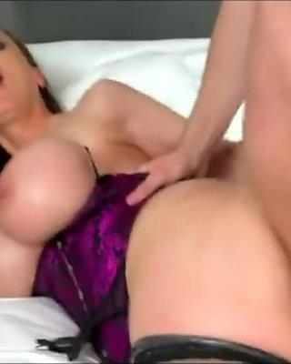 Pierced mature slut takes fat dick in both holes