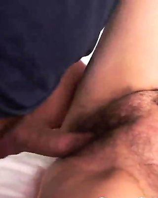 Pussyfucked grandmother tastes young cock