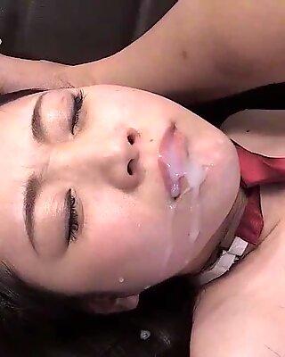 Great asian cumshot