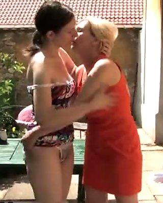 Lesbian housewife gets