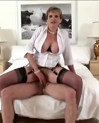 Mature hottie Lady Sonia gets fucked and slathered with jizz