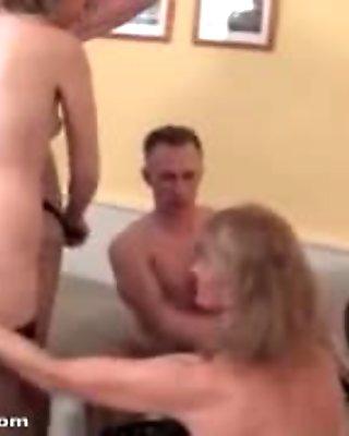 Dirty mature whores go crazy sharing