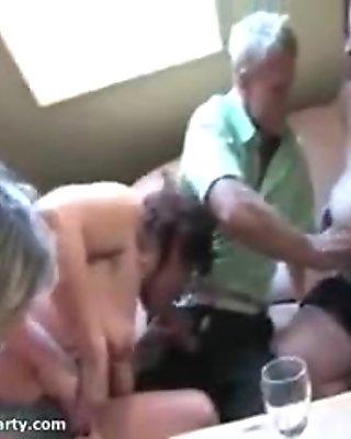 Nasty mature women go crazy
