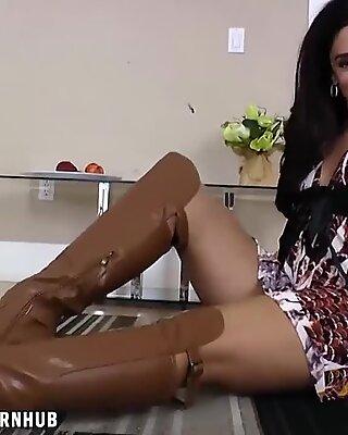 Sheena touches her super-naughty mature slit