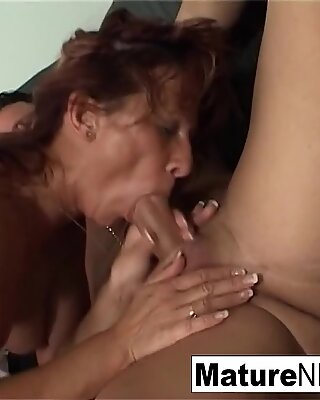 Dirty mature granny only wants hard cock in the ass!