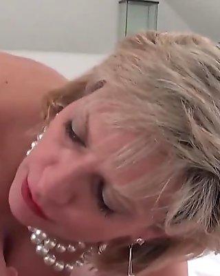 Unfaithful british mature gill ellis flaunts her enormous tits