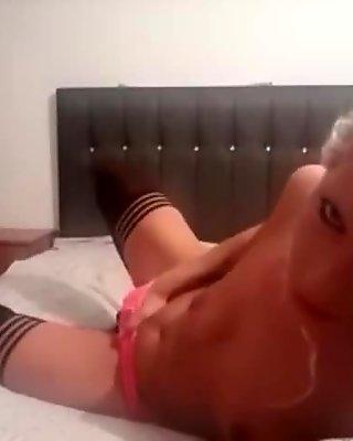Pink panties orgasm